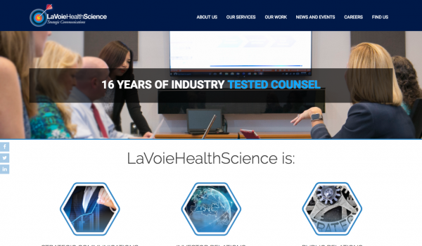 LaVoieHealthScience Website Refresh