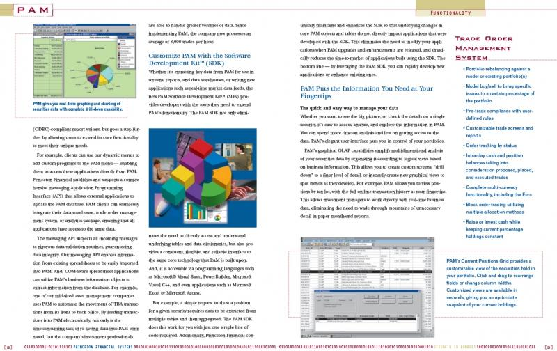 PAM software brochure