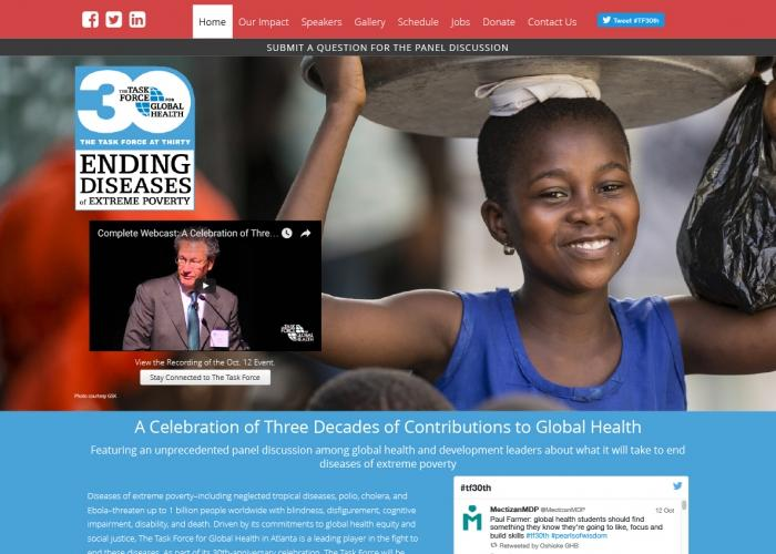 Task Force for Global Health Conference Website