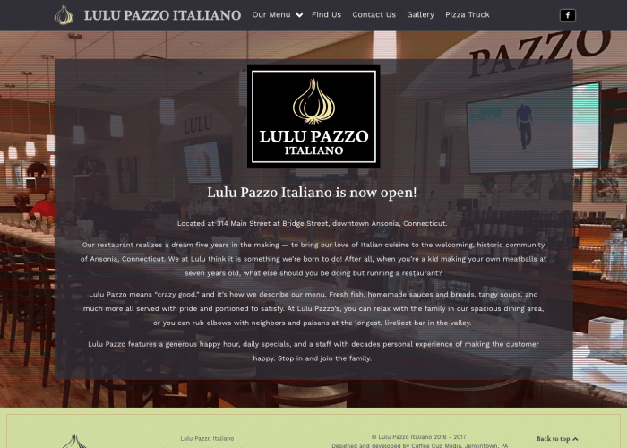 Lulu Pazzo Italiano, Ansonia, Connecticut